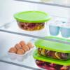 Kép 2/3 - Pyrex Cook & Store hőálló, kerek sütőtál műanyag fedővel 1,1 liter 20 cm - 020060