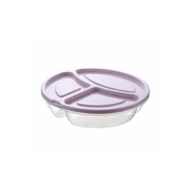 Hobby life Smart BPA mentes műanyag kerek 3 rekeszes ételtároló doboz 0,6 liter -21384