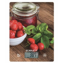 Scarlett digitális konyhai mérleg max. 8 kg eper minta - SCKS57P61