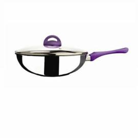 Mepra Ecoceram Viola kerámia bevonatos indukciós wok üvegedővel 28cm