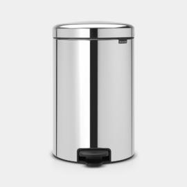 20 literes pedálos szemetes inox színben - 113987 Brabantia New Icon Brilliant Steel,