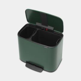 Brabantia Bo Bin 2 rekeszes pedálos szelektív szemetes 11 + 23 literes fenyő zöld - 304125