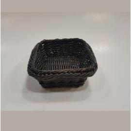 APS polyrattan kosár szögletes 17,6x16,2x6,5cm barna-fekete