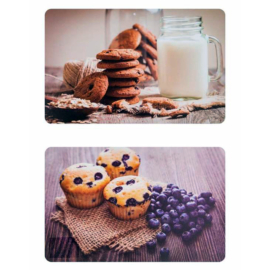Banquet Cookies asztali tányéralátét süti vagy muffin mintával 43 x 28 cm - 12801010