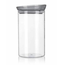üveg fűszertartó légmentesen záró műanyag tetővel