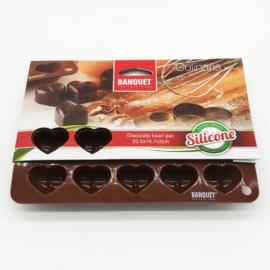 Banquet szilikon csokiszív forma - 3120200BR