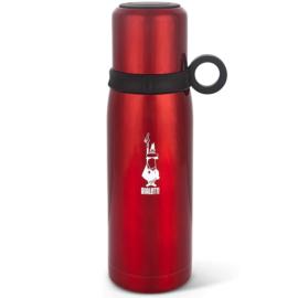 Bialetti hőtartó, rozsdamentes acél termosz pohárral, piros 460 ml - DCXIN00001