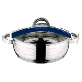 rozsdamentes indukciós szeletsütő fedővel 22 cm Blaumann Gourmet line BL-1002,
