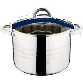 rozsdamentes indukciós fazék üvegfedővel 9,5 liter Blaumann Gourmet line BL-1011,