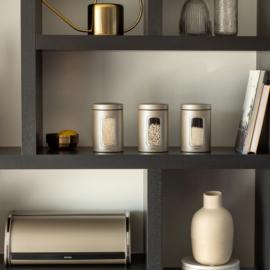 Brabantia ablakos tároló szett 3 x 1,4 liter pezsgő színben - 304842