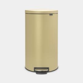 Brabantia Flatback+ Mineral Gold csapott hátú pedálos szemetes 30 literes arany- 119583