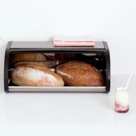 ujjlenyomatmentes matt króm kenyértartó 2 kg-os - 180015 Brabantia Roll Top