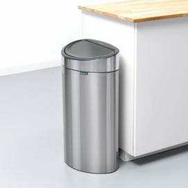 falra tolható nyomásra nyíló rozsdamentes szemetes 40 literes ujjlenyomatmentes kivitel - 114809 Brabantia New Icon Touch Bin