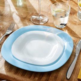 Luminarc Carine 19 részes fehér-türkisz étkészlet - 503132