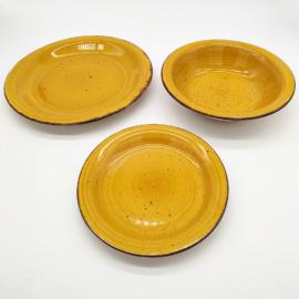 Casa Collection Harvest giallo 18 darabos kerámia étkészlet mustár sárga- 131064