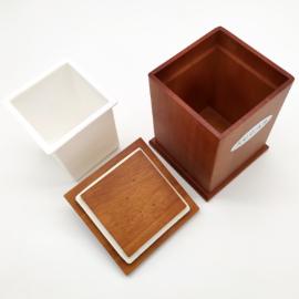 Cherry kávé / cukor / tea tárolódoboz szett, vákumfedős tetővel - 210052