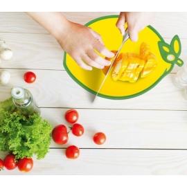 vágódeszka csúszásgátlóval citrom alakkal Hobby life műanyag