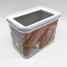 műanyag téglalap alakú légmentes tárolódoboz 0,75 literes