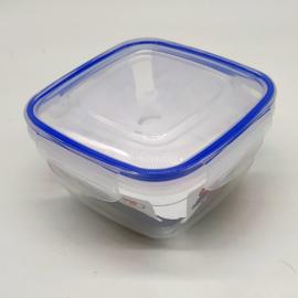 légmentesen zárható műanyag ételtároló doboz tetővel 0,9 liter - 30103