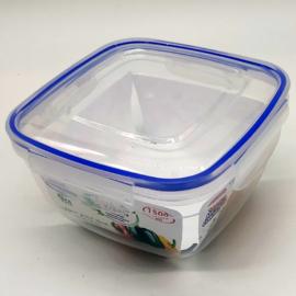 légmentesen zárható műanyag ételtároló doboz tetővel 1,5 liter - 30104
