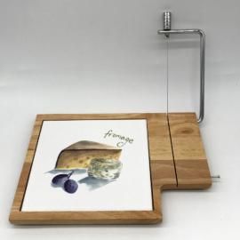 Fa kerámia betétes sajttál szeletelővel - 210065