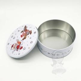 sütis doboz kerek 16 cm - HU105 Fém karácsonyi