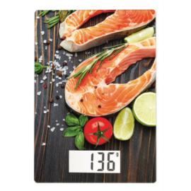 Scarlett digitális konyhai mérleg max. 10 kg lazac motívummal - SCKS57P37