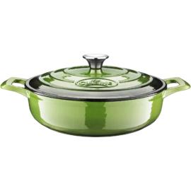 La Cuisine Green öntöttvas kerek sütőtál fedővel 28cm - 432023