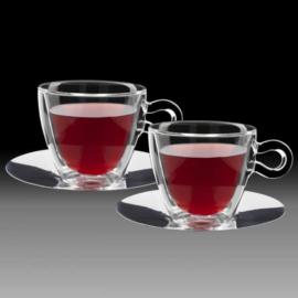 Luigi Bormioli THERMIC GLASS rozsdamentesalj+teás csésze 30 cl 2 db - 198153