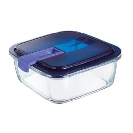 hőálló ételtároló szilikon szigetelésű fedéllel 1,22 liter 17x17 cm - Luminarc Easy Box