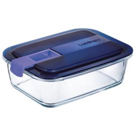 hőálló ételtároló szilikon szigetelésű fedéllel 1,22 liter 20x15 cm - Luminarc Easy Box