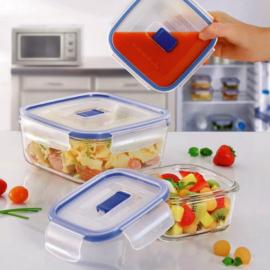 ételtároló edény 15x15 cm Luminarc Pure Box szögletes alakú üveg,