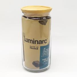 Luminarc Pot Pure vákumzáras üveg fűszertartó fa tetővel 1,5 liter - 503120
