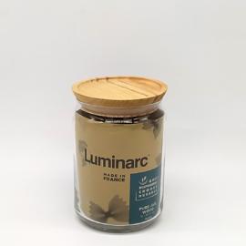 Luminarc Pot Pure vákumzáras üveg tároló, fa tetővel 1 liter - 503121