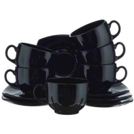 Luminarc Quadrato fekete teás készlet 22 cl 6 db - 500610