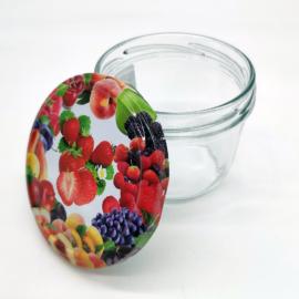 Magyar befőttes üveg mintás tetővel 230 ml-es - E12
