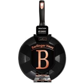 Model Home Black Rose minden főzőlapon használható márvány bevonatos indukciós serpenyő 24cm - MO-9000