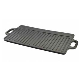 Perfect Home öntöttvas grill lap, 2 oldalas, forgatható, 40,5 x 24,5 cm - 12014