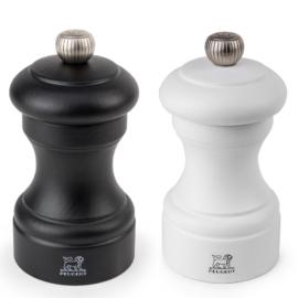 Peugeot Bistro Duo bors és sóőrlő szett fekete / mattfehér 10 cm - 2/24291