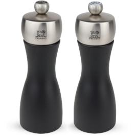 Peugeot Fidji Duo bors és sóőrlő szett mattfekete/nemesacél 15 cm - 2/17132
