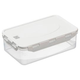 műanyag ételtároló doboz szilikon tömítéssel QR koddal 1,3 liter - 2806
