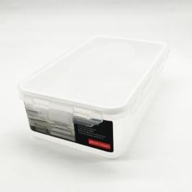 műanyag ételtároló doboz szilikon tömítéssel 1,3 liter - 2806 Plast team Air Tight BPA mentes