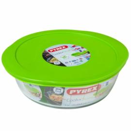sütőbe helyezhető sütőtál műanyag fedővel 26cm 2,3 liter Pyrex Cook & Store kerek hőálló - 203060,