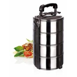 Banquet rozsdamentes ételhordó, 4 részes 2,8 liter - 48220004