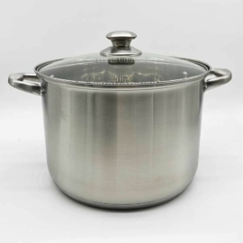 Blaumann Gourmet line Satin rozsdamentes indukciós fazék üvegfedővel 26 cm 9,5 literes - BL-3316