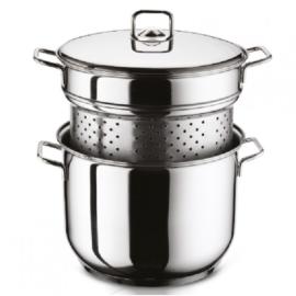 tésztafőző és pároló edény fedővel, 8 liter, 24 cm - 92099 Arian rozsdamentes