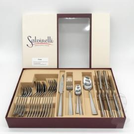30 részes Salvinelli Time evőeszköz készlet, rozsdamentes, 3 mm vastagság
