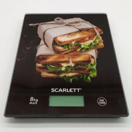 Scarlett digitális konyhai mérleg max. 10 kg szendvics motívummal - SCKS57P56