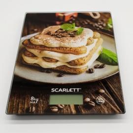 Scarlett digitális konyhai mérleg max. 8 kg tiramisu motívummal - SCKS57P58