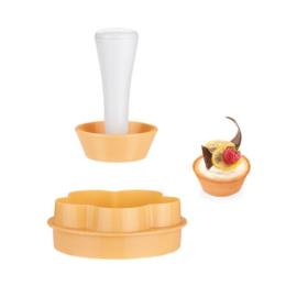 műanyag tésztasütő kosárka forma+nyomó - 630087 Tescoma Delicia